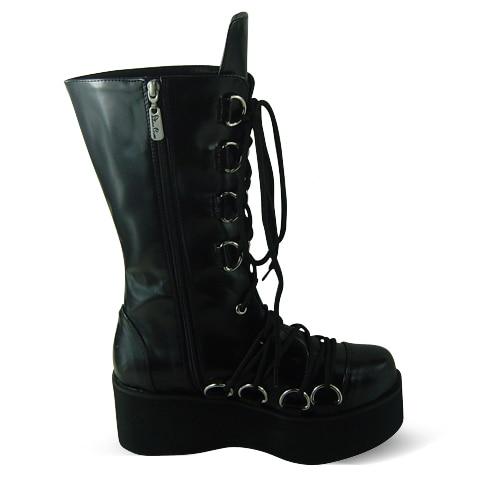 Principessa dolce lolita gothic lolita stivali scarpe su ordinazione Tai an na cos lolita d metal punk HARAJUKU piattaforma cerniera stivali 1221