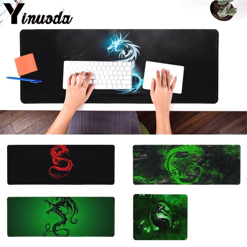 Yinuoda Cool Fashion Green red blue Dragon gamer play mats Mousepad Size for 180*220 200*250 250*290 300*900 and 400*900*2mm