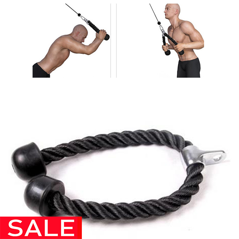 KUUBEE Tricep Abdominal Crunches Cable Down Laterals Biceps Muscle Training Pull Rope