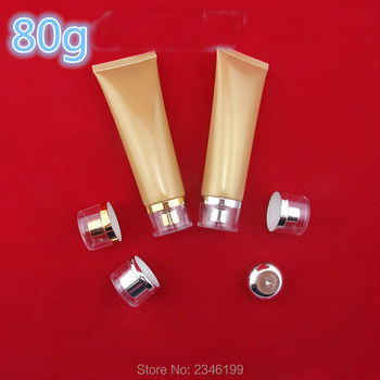 80ML 80G 40pcs/lot Empty Shiny Gold Cosmetic Cream Tube, Plastic DIY Facial Soft Tube, High Class Hand Cream Hose Soft Tube