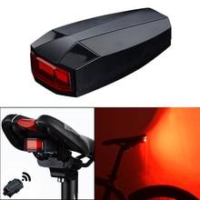 4 w 1 Rowerów Inteligentne Bezprzewodowe Tylne Światła Rowerowe Pilot Alarm Blokada Mountain bike Bell COB Tailight ALS88
