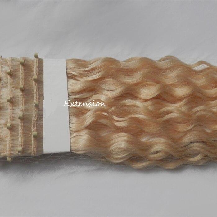 Micro Bead Hair Weft Ez Remy Human Hair Extensions Bleach Blonde