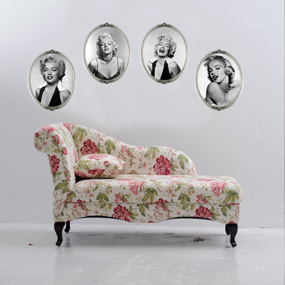 one set 4pcs new marilyn monroe 4 photos wall stickers home decor for living room sofa background creative 3d illusion box