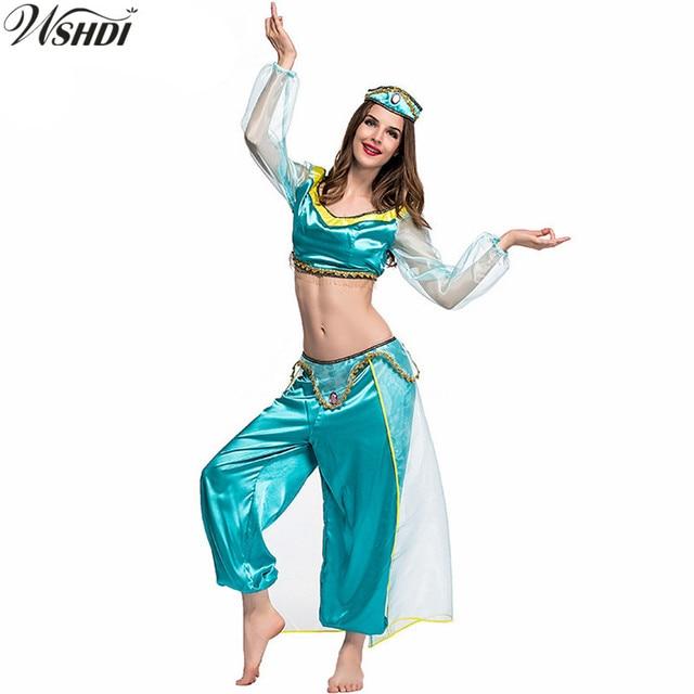 High Quality Adult Aladdin Princess Jasmine Dress Party Wedding ...