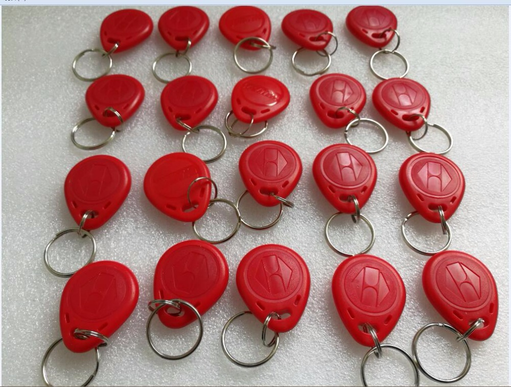 20pcs RFID red Tokens 125Khz EM4100 chip Tags ID Card Key Chain Card Access Card for RFID reader keypad access control system creative home decoration ferris wheel shape led night light