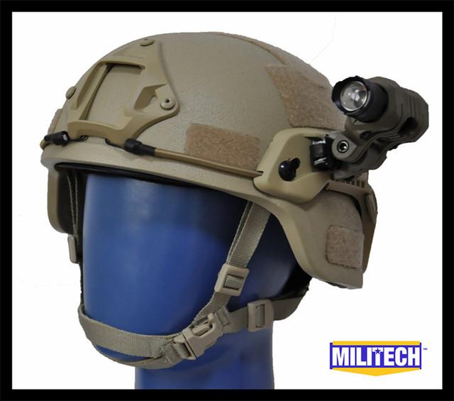 M/LG Tan MICH NIJ nível IIIA 3A Kevlar Capacete À Prova De Balas Tático/ARC Tactical ACH OCC Dial Liner De Aramida Balística Conjunto Capacete