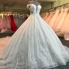 Fmogl Elegant Ball Gown Wedding Dresses 2019 Royal Train