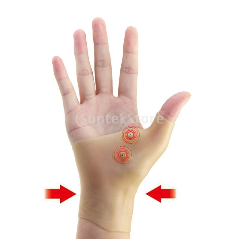 Healthcare Therapy Gel Wrist Hand Silicone Thumb Support Gloves Pain Relief ...