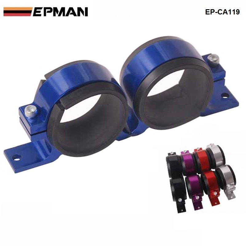 EPMAN- Anodised Dual Double &Twin Fuel Pump Brackets fit Aeroflowpumps and Walbro Default color: Blue For BMW e34 EP-CA119
