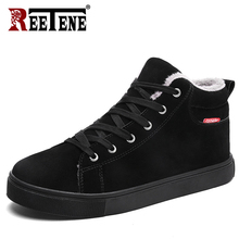 REETENE 2018 New Winter Shoes Men Comfortable High Quality Fur Mens Boots Fashion Super Warm Shoes Men Winter Men'S Boots(China)