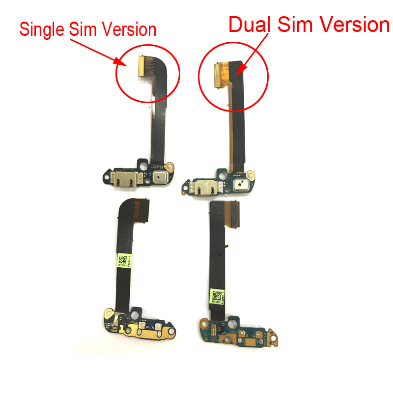 One M7 Dock Connector For HTC One Dual Sim 802D USB Charging Port Flex Cable With Microphone