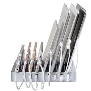 Image 2 - 8 Ports chargeur de bureau USB 96W multifonction USB Station de recharge Dock avec support ue US AU royaume uni prise pour téléphone portable tablette PC