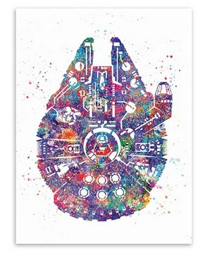 Star Wars Poster – Falcon Spaceship