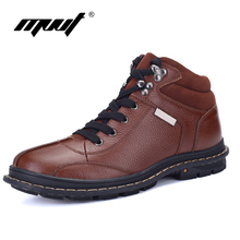 MVVT Brand Classics Style Men Boots Top Grade Genuine Leather Ankle Boots Warmkeep Comfort Casual Shoes men Plus Size 6-11