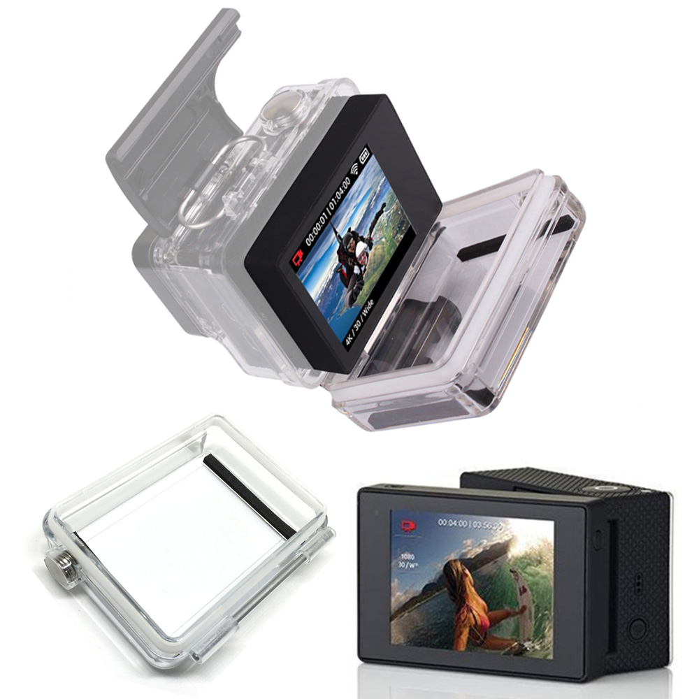 For Gopro Accessories Go pro Hero 3+ 4 LCD Bacpac Display Screen External Screen For Gopro Hero3+ 4 Sport action Camera bz glow in the dark 3 3 square oval mount set accessories for gopro hero3 more white red