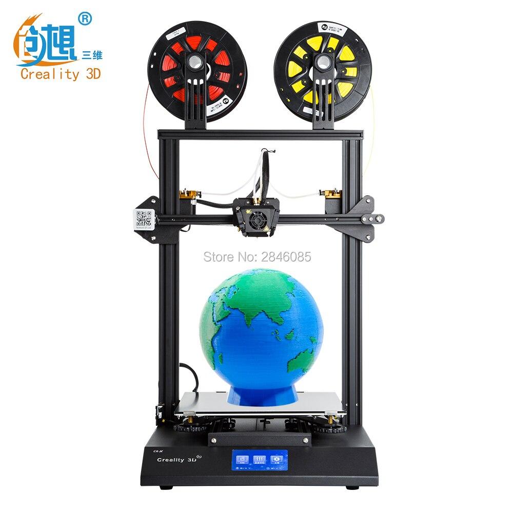 Hot CRIATIVIDADE CR-X 3D Currículo de Impressora Impressão Dual-cor DIY KIT Tela Sensível Ao Toque Duplo Fã Legal + 2 KG filamento