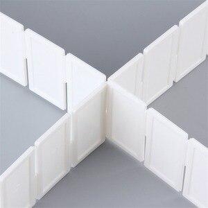 Image 5 - 6 個 diy グリッド引き出しディバイダー家庭用品収納オーガナイザープラスチック分配器デスク引き出しクローゼット省スペースツール