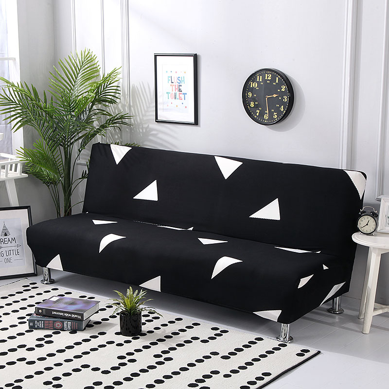 Stretch Sofa Cover Without Armrest Folding Sofa Bed Cover All-Inclusive Couch Cover Big Elastic Slipcover Sofa Protector Cover