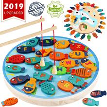 Magnetic Wooden Fishing Game Toy for Toddlers Alphabet Fish Catching Counting Board Games Toys for 2 3 4 Year Old magnetic wooden fishing game toy for toddlers alphabet fish catching counting preschool board games toys for 2 3 4 year old kids