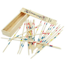 Baby Children Educational Wooden Traditional Mikado Spiel Pick Up Sticks With Box Game Kids Gifts BM