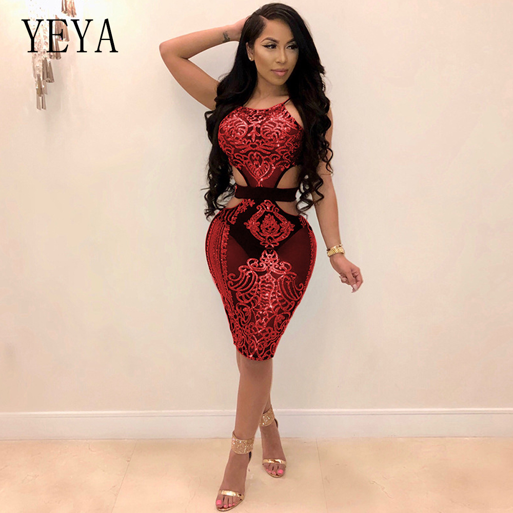 2018 Autumn Winter Women Dress 2 Piece Set Bodycon Bandage Dress Plus Size Party Dress Mesh Sexy Mini Club Dress Beading Vestido Women's Clothing