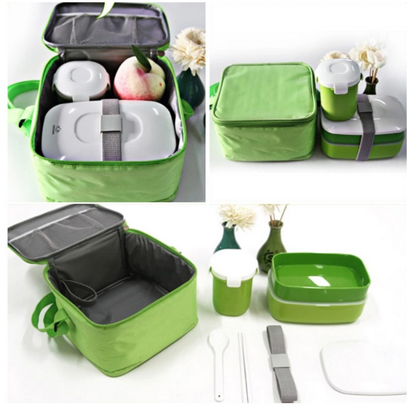 High Quality Portable Macaroon Japanese Bento Box Leak Proof Stainless Steel Thermal Lunch Boxs Kids Picnic Container For Food