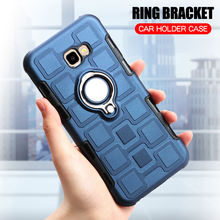 Cover For Samsung Galaxy J4 Core Silicone Shockproof Phone Case For Samsung J4 Core Luxury Armor Back Cover Ring Stand Hard Case