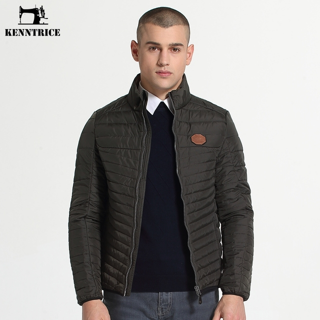 Kenntrice Jacket Men Casual Quilted Puffer Jacket Mens Autumn ... : quilted down jacket mens - Adamdwight.com