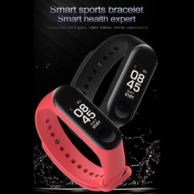 M3 Smart Bracelet Bluetooth Bracelet Supports Multi Language for Android /iOS with Heart Rate Sleep Monitoring Message Reminder-in Smart Wristbands from Consumer Electronics