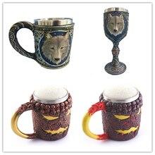 350 ML Doppelwand Aus Edelstahl 3D Schädel Wolf Kaffee Tee Meine Flasche Becher Halloween Geburtstagsgeschenk Trinkbecher Monsters milch
