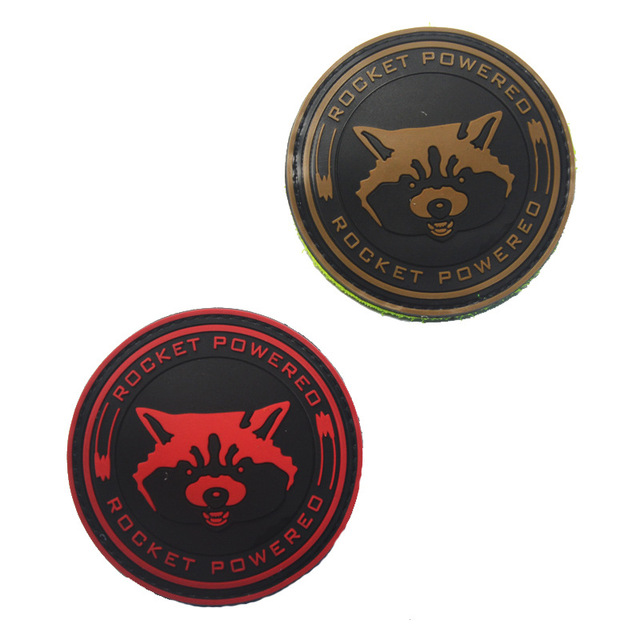 Community Rocket Powered Raccoon Morale Patch Guardians of the Galaxy  Tactical Badge PVC Applique For Jackets Jeans Backpack Hat bd3c40c3d52