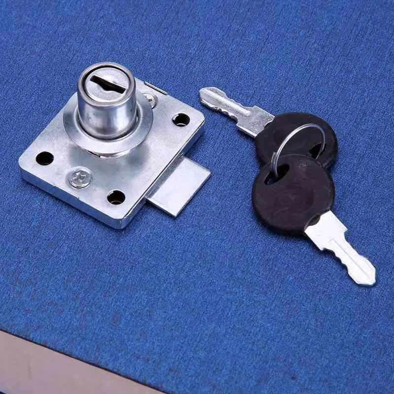 138C-22 Steel Desk Drawer Lock Wardrobe Cabinet Furniture Cam Lock Cold Rolled Steel Zinc Alloy Cabinet Safety Locker with 2 Key