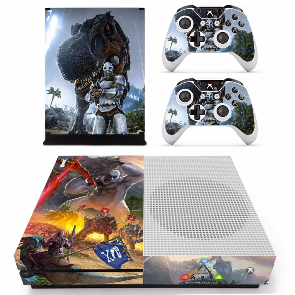 Game ARK Survival Evolved Skin Sticker Decal For Microsoft Xbox One S Console and 2 Controllers For Xbox One S Skins Sticker