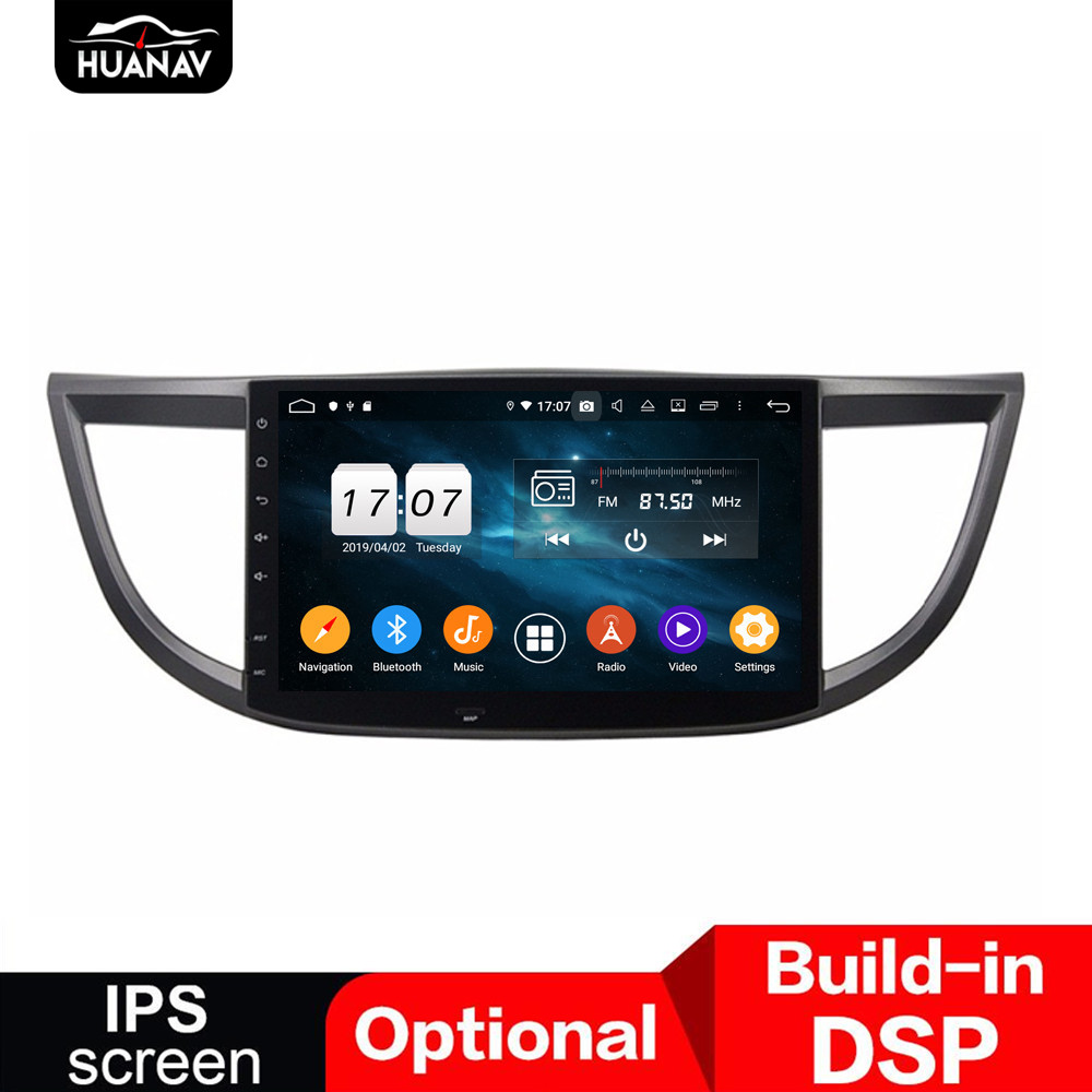 DSP Android 9.0 Car No DVD player GPS navigation for Honda CR-V 2012-2015 auto radio stereo multimedia player head uint recorder image