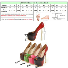 ANNYMOLI Women Pumps Extreme High Heels Platform Shoes Open Toe Ladies Pumps 16 cm heels Female Party Shoes Red Plus Size 33-46