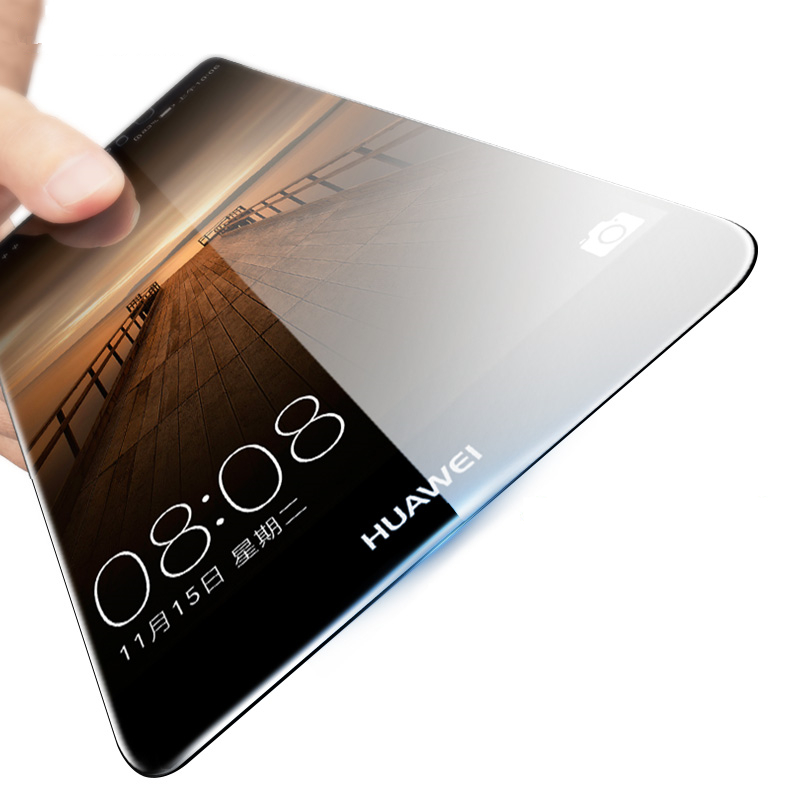 0.3mm Tempered Glass for Huawei Mate 2 7 8 Mate S 2.5D Arc Edge High Transparent Screen Protector Film with Clean Tools