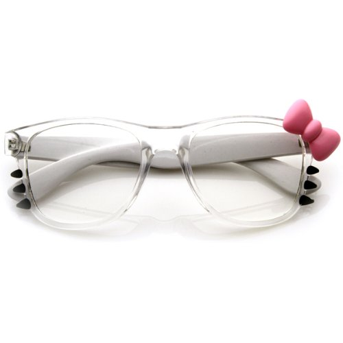 b3ba4bd52 Womens Retro Fashion hello kitty Clear Lens Glasses Bow and Whiskers-in  Movie & TV costumes from Novelty & Special Use on Aliexpress.com | Alibaba  Group
