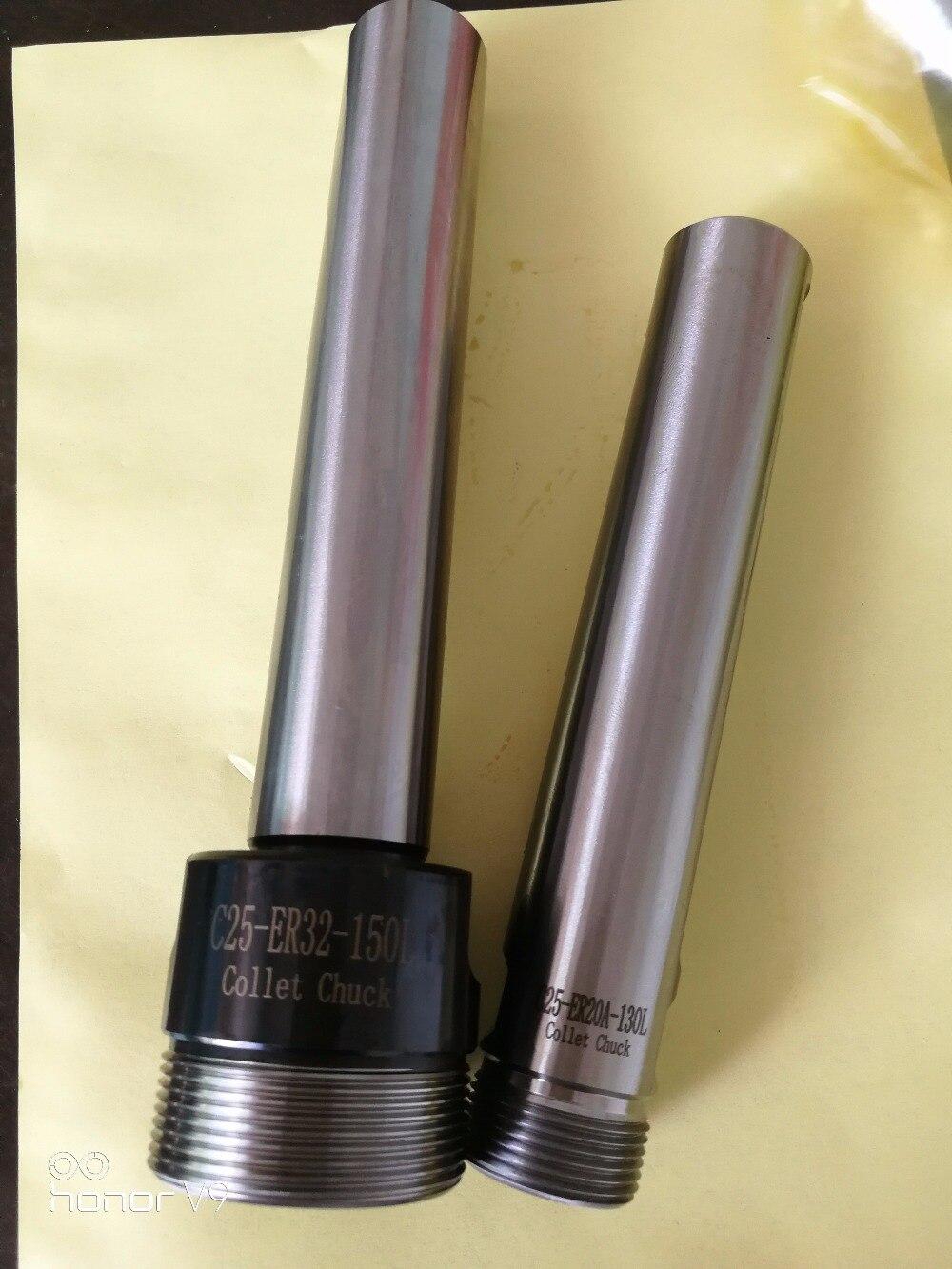 Купить с кэшбэком New 1pcs C25 ER20A 130L M10 Straight shank collet chuck 25mm extension toolholder ,M10 thread drawbar  CNC mill