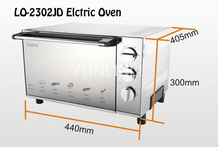 Electric Oven Electric Baker Household Oven Household Baker Heating Oven Cake Baker Bread Baker LO-2302JD 220v aux 9l multifunctional electric oven household bread cake pizza baker machine automatic barbecue electric oven