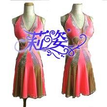 women Ballroom Rhythm salsa Latin samba swing dance dress US 8 sexy