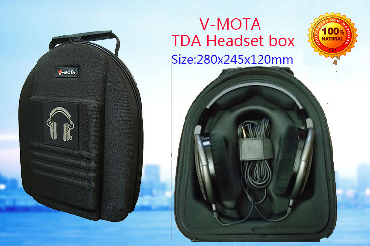 V-MOTA TDA Headphone Carry case boxs For Sennheiser HD650 HD700 HD598 HD580 HD515 HD555 HD595 HD600 headphone(headset  suitcase)