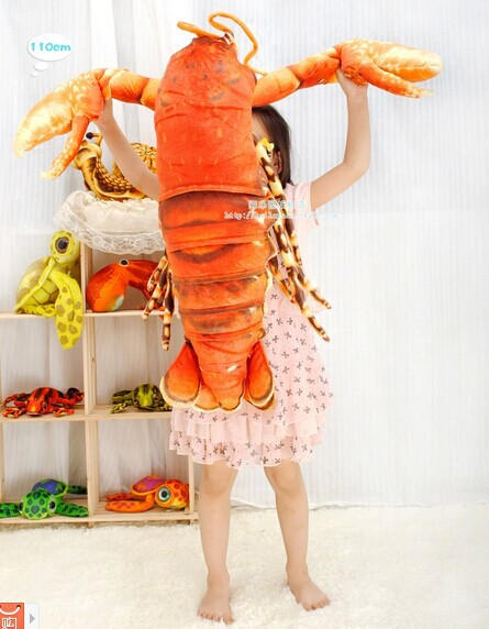 about 110 cm simulation lobster plush toy doll throw pillow gift w4622