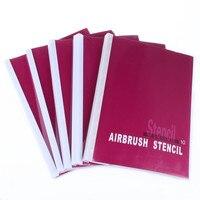 3 책 골든 피닉스 문신 스텐실 스프레이 바디 아트 임시 에어 브러쉬 메이크업 2263 패턴 선택 도매