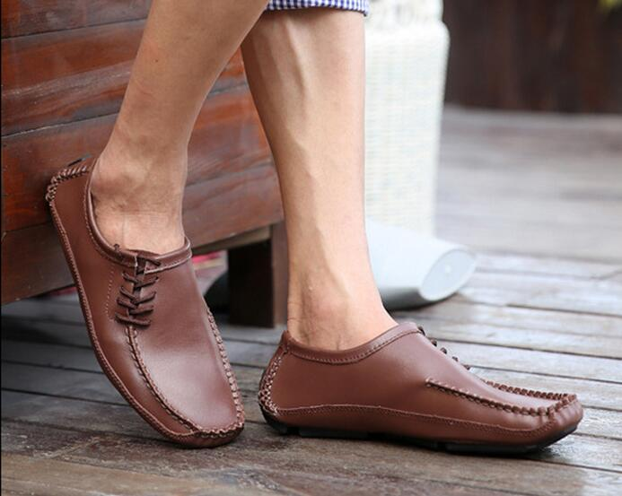 2017 Fashion spring casual shoes High Quality Genuine Leather Men Shoes Soft Moccasins Loafers Men Flats Comfy Driving Shoes 2017 new brand breathable men s casual car driving shoes men loafers high quality genuine leather shoes soft moccasins flats