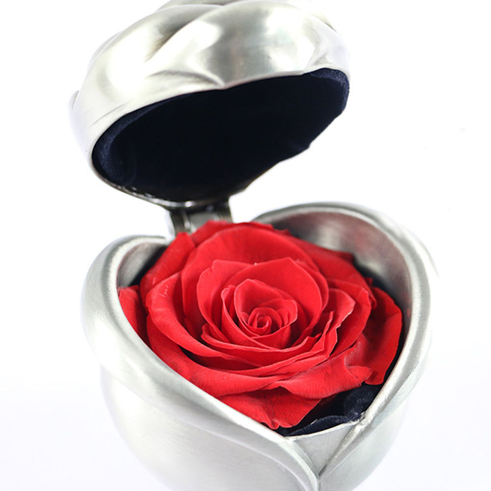 Anniversary Preserved Flower Rose Heart Shape For Love Ones Holiday Present With Gift Box Valentine's Day Immortal Eternity