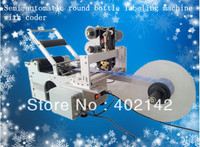 100 Warranty Semi Automatic Round Bottle Labeler Machine With Coder Date Printing Labeling Machine China Manufacturer