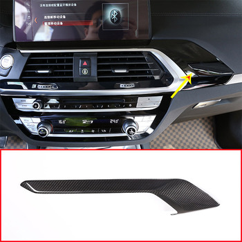 Real Carbon Fiber Car Center Console Decoration Cover Panel Trim For BMW X3 G01 X4 G02 2018 2019 Accessories
