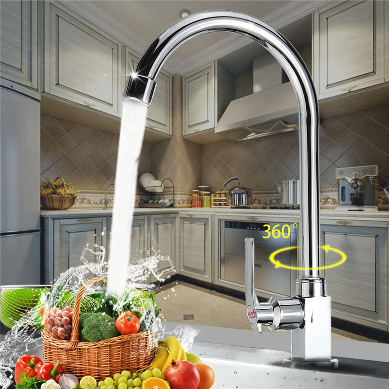 Zinc Alloy Contracted Kitchen Basin Sink Water Tap Faucet Ceramic Valve Bathroom Wash Basin Faucet Single