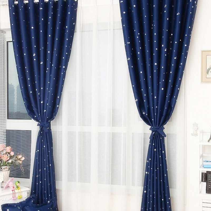 2018 Perforated Stars Shade Cloth Hot Sell  95*250CM  / 95*130CM  Blackout Curtains For Home And Office