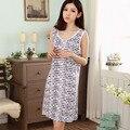 Summer women's modal vest nightgown sleeveless girls sleepwear spaghetti strap plus size women's cartoon lounge
